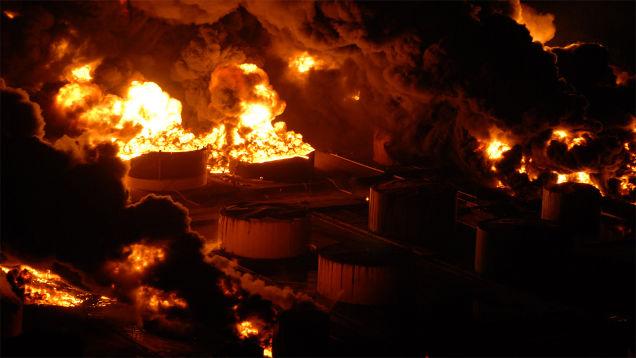 petroleum explosion